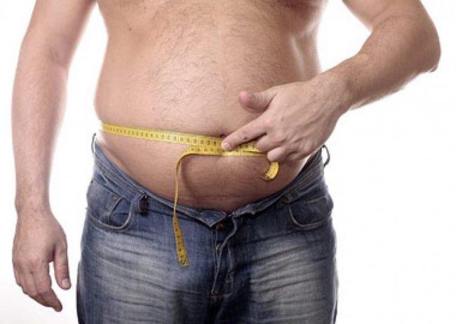 у мужчины лишний вес